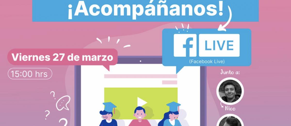 """Transmisión en vivo para consultas del taller """"Crea tu primera App"""""""